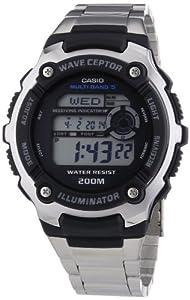 CASIO WV-200DE-1AVER - Reloj unisex de cuarzo, correa de acero inoxidable color varios colores (con radio, cronómetro, alarma, luz) de CASIO