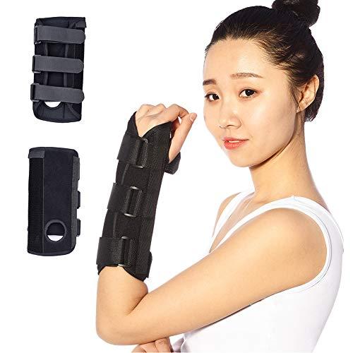 NICEWL Karpaltunnel Handgelenkstütze-Arm Kompression Handstütze, Verstellbare Handgelenkstütze Mit Schienen, Männer Frauen Verletzungen Schmerz Verstauchung,Right,L -