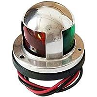Cutogang - Luz de Navegación para Barco Marino (LED, 12 V, Acero Inoxidable, luz roja y Verde), Color Verde