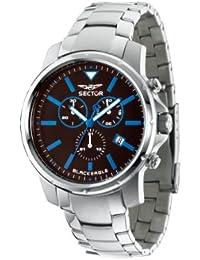 Sector Herren-Armbanduhr XL Black Eagle Chronograph Edelstahl R3273689002