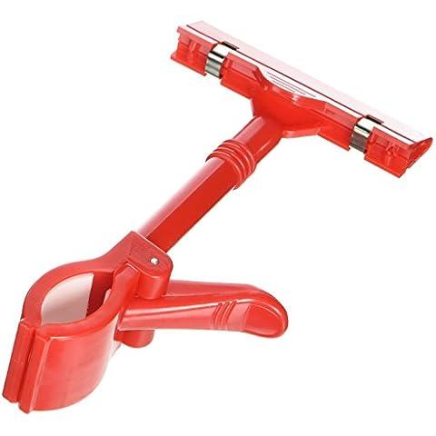 Rojo Plástico Ajustable Puntal Letrero Precio Etiqueta Con Clip Soporte