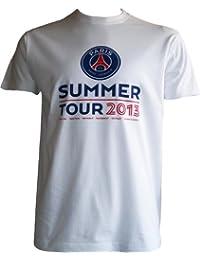 T-shirt PSG - Summer Tour 2013 Real Madrid Naples Bordeaux - Collection officielle PARIS SAINT GERMAIN -Football club - Taille adulte homme