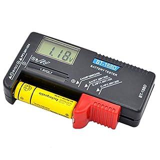 Goodplan 1 Stücke Batterie Tester Digitalanzeige Batteriekapazität Tester Batterie Checker für AA, AAA, C, D (Schwarz)