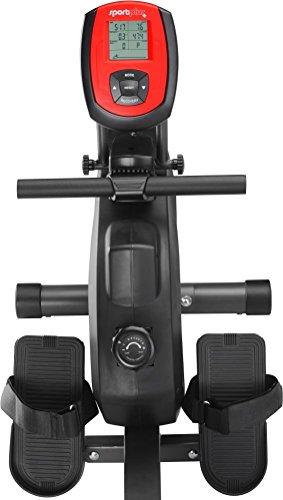 SportPlus Rudermaschine, Computer inkl. 5 kHz Pulsempfänger, weiß, bis 150 kg Benutzergewicht, klappbar, SP-MR-008 - 5