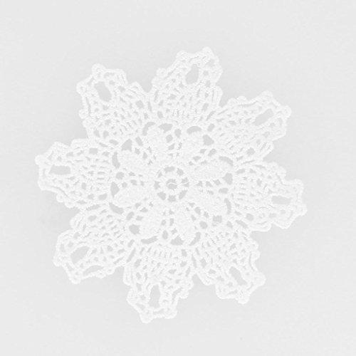 Inconnu Deckchen gehäkelte Spitze ananas 11 cm weiß x1 (Ananas Gehäkelte)