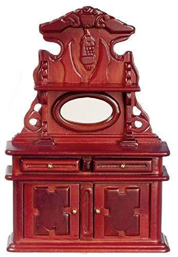 Viktorianischen Esszimmer-möbel (Melody Jane Puppenhaus Miniatur Esszimmer Möbel Holz Kirschrot Viktorianisch Kommode)