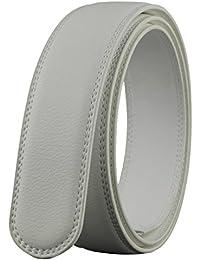 Katusi Hombres Cinturón Automático Sin Hebilla Piel Genuina Todos los Tamaños Anchura 3.5cm Negro kts9
