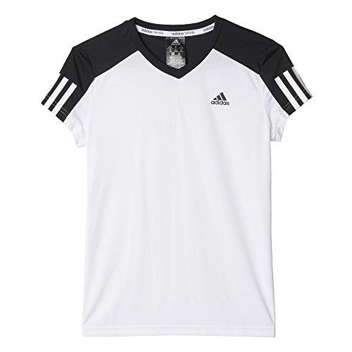 adidas Mädchen T-shirt G CLUB Tee, Weiß/Schwarz, 140, 4055344379950