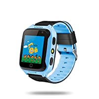 "Mainstayae Kids Smart Watch Phone for Children 1.44"" TFT Touch Screen GPS Locator Built-in Camera Flashlight Smartwatch with SIM Card Slot Remote Voice Monitoring Calls SOS Alarm"