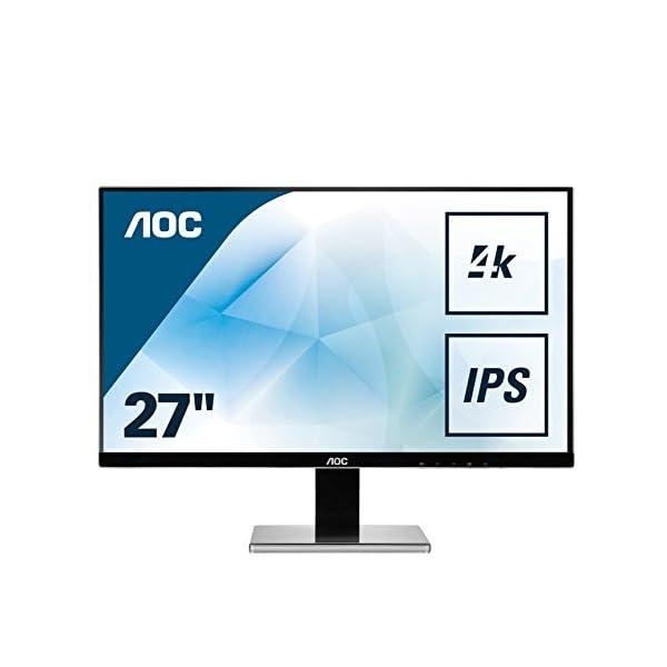AOC U2777PQU 27″ 4K Widescreen IPS LED Black Multimedia Monitor (3840×2160/4ms/VGA/DVI/HDMI/DP/USB) 41zc17wdGaL