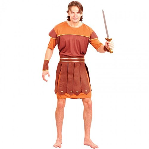 Imagen de eurocarnavales  disfraz de guerrero romano marrón hércules adulto talla única