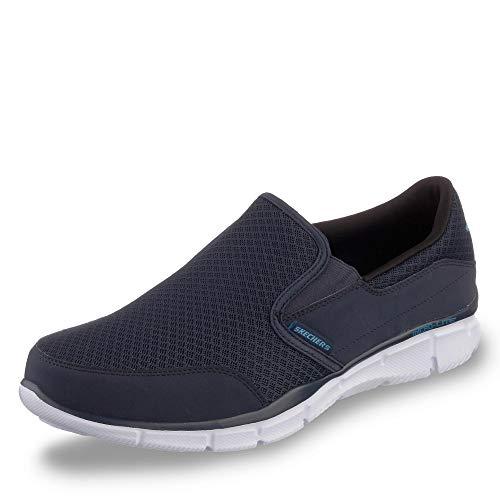 Skechers Herren Equalizer persistent Sneaker, Blau (Navy), 42 EU (Casual Slip On Herren)