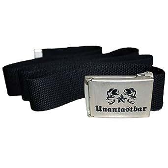 """Unantastbar - """"Classic"""" Gürtel mit Metallschnalle, Farbe: Schwarz"""