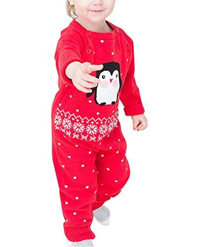 Neugeborene Overall Lange Hülsen Baby Spielanzug Kleidung Overall Bodysuit Rot2 73