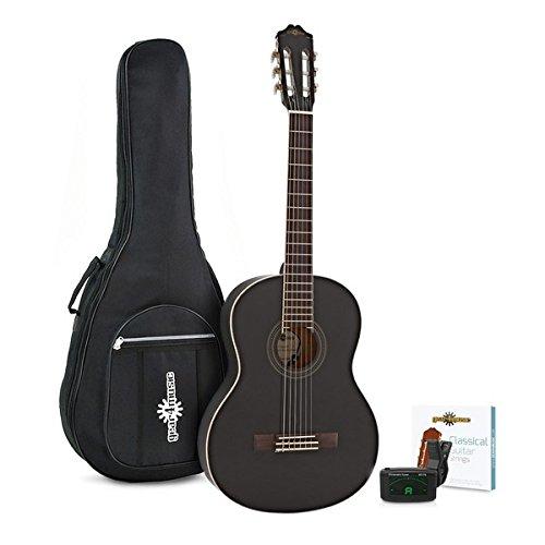 Guitarra Española Deluxe + Accesorios de Gear4music - Negro