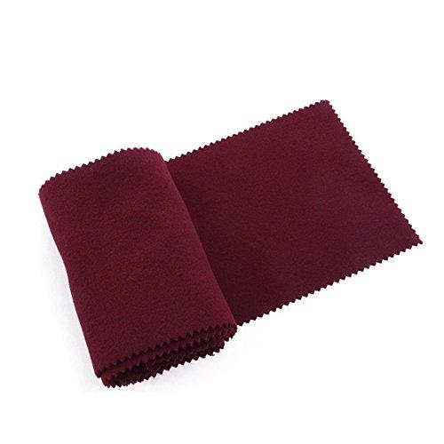 ULTNICE Klaviertastatur Anti-Staubschutzhaube Tastaturabdeckung Tuch für Klavier Reinigung Pflege Burgunder 128 * 15 cm