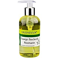 Greendoor sapone liquido organico vegan rosmarino sapone 250 ml, senza conservanti, Kay mano sapone