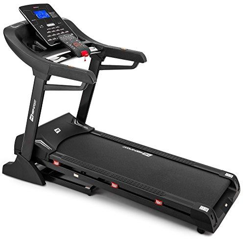 Hop-sport Laufband HS-3000LB Aqua mit Bluetooth, USB, AUX, SD, eingebraute Lautsprecher, 18 Trainingsprogramme (Laufbänder Mit Bluetooth)