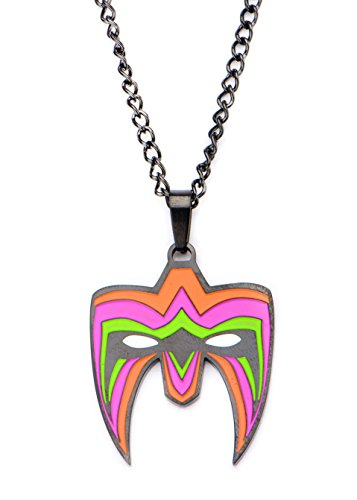 wwe-mens-ultimate-warrior-logo-stainless-steel-pendant-with-chain-necklace