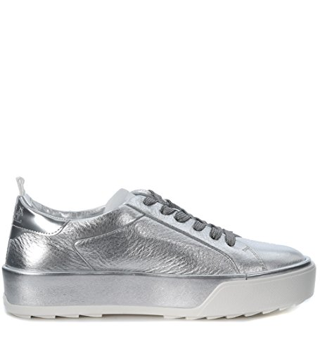 Sneaker Hogan Rebel R320 in pelle argento Argento