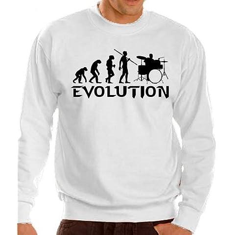 Evolution–Felpa Drummers taglie S-XXXL, colori vari, bianco, XL