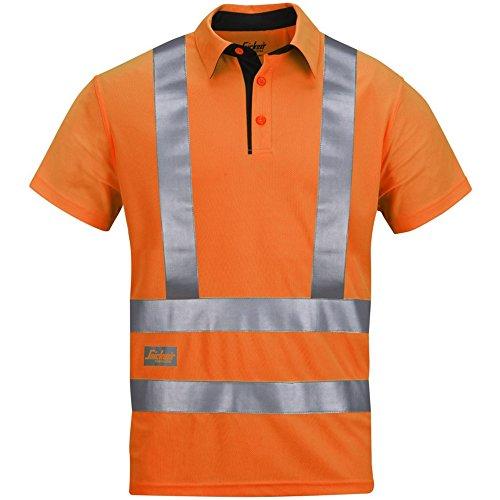 "Snickers Polo Shirt ""High-Vis A.V.S."" Klasse 2/3 Größe XS in Orange, 1 Stück, 27435500003 HV orange"