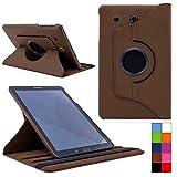 COOVY® Cover für Samsung TAB E 9.6 SM-T560 SM-T561 SM-T565 Rotation 360° Smart Hülle Tasche Etui Case Schutz Ständer | Farbe braun