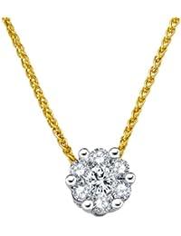 Diamond Line Damen - Halskette 585er Gold 7 Diamanten ca. 0,40 ct., gelbgold