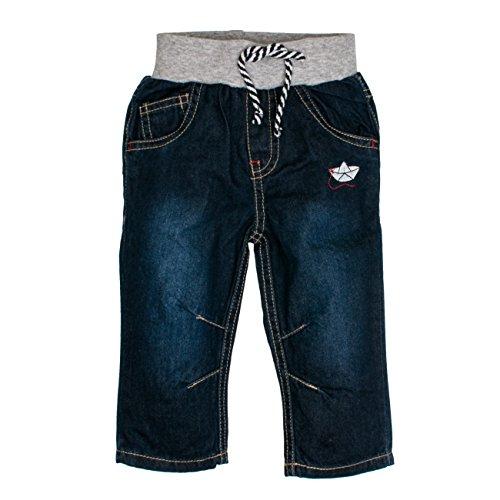 SALT AND PEPPER Baby-Jungen B Jeans Pirat Kordelzug, Blau (Original 099), 74 (Denim Pant Piraten)