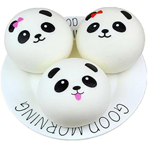 mini kawaii miniaturas kawaii Kawaii beauty Mini pan Panda Tefamore Squeeze Squishy Lento Rising Crema Decompression Popular Juguete (M(7 cm))