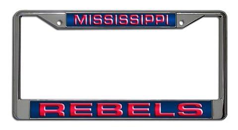 NCAA Mississippi Rebels Laser Cut Chrome Plate