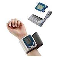 Caxmtu Digital LCD Wrist Blood Pressure Monitor Heart Beat Rate Meter Measure