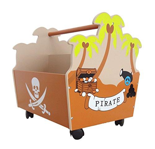 bebe-style-childrens-pirate-wooden-storage-organizer-storage-unit-on-wheels