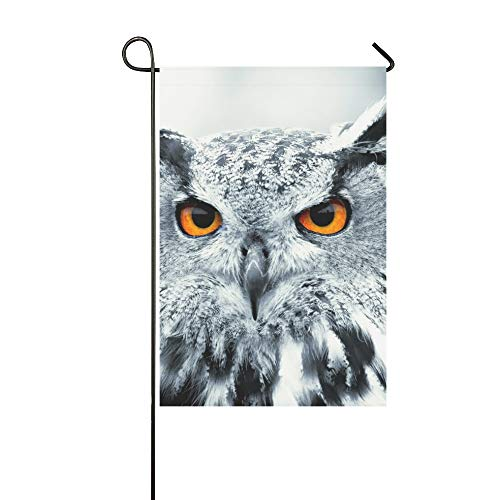 Dekorative Outdoor Double Sided Piercing Owl Eyes Garten Flagge, Haus Yard Flagge, Garten Yard Dekorationen, saisonale Willkommen Outdoor Flagge 12 X 18 Zoll Frühling Sommer Geschenk