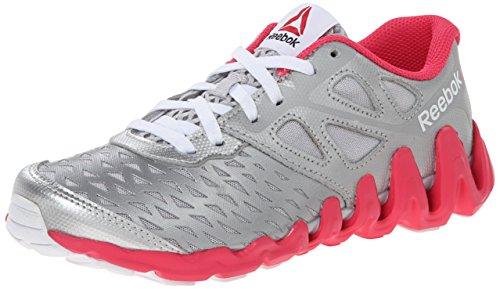 Reebok Zigtech Big N Tough Synthétique Chaussure de Course Slvr-Steel-Pink-Wht