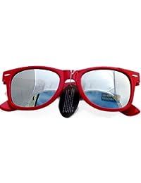 NERD® Sonnenbrille Silber verspiegelt (Rot)