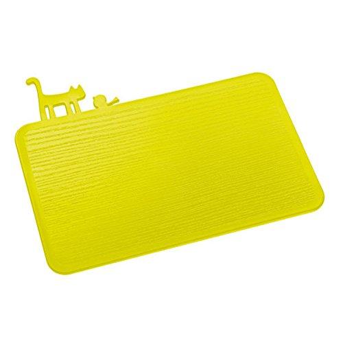 Koziol PI:P - Tabla para cortar alimentos, 29,8 x 25 x 5 cm, color Verde Mostaza