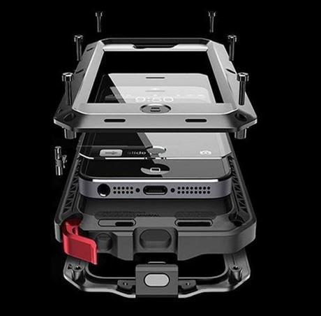 Facil&co cover iphone x antishock [solida, robusta et rigida] [copertura dello schermo in vetro temperato], silicone alluminio e metallo, la più solida mai realizzata