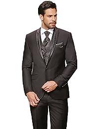 Herren Anzug - 8 teilig - Schwarz Designer Hochzeitsanzug TOP ANGEBOT NEU PC_16