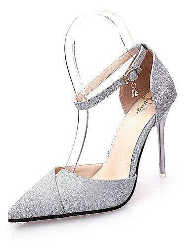 WSS 2016 Chaussures Femme-Mariage / Habillé / Décontracté / Soirée & Evénement-Noir / Blanc / Argent / Or-Gros Talon-Bout Pointu-Talons- golden-us5.5 / eu36 / uk3.5 / cn35