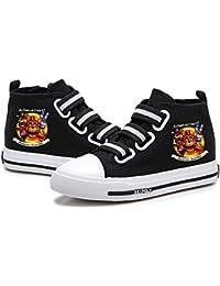 Gbbhretg Five Nights at Freddy'S Zapatos niños Zapatos del Alto-Top Zapatos de Lona impresión de la Manera de Velcro Suela de Goma Zapatos niños y niñas