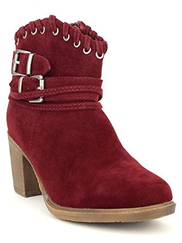 Cendriyon, Bottine bordeaux AZAOLA Mode Chaussures Femme Bordeaux