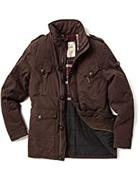 VEDONEIRE Mens Washed Cotton Padded Jacket (3087 Brown) coat winter