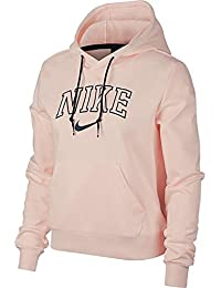 Nike W NSW Hoodie Vrsty Sweatshirt, Mujer, Washed Coral/MIDN, L