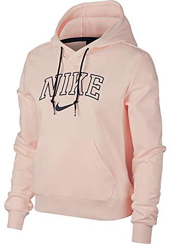 Jordan Fleece Hoody (Nike Herren AW77 Fleece French Wejd Hoody Jacke Sweatshirt, Washed Coral/MIDN, S)