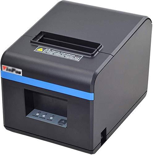 WSMLA Direkter Thermodrucker POS-Belegdrucker Thermodrucker für den USB- oder Netzwerk-Anschluss der Kasse (Color : USB) 256k Flash