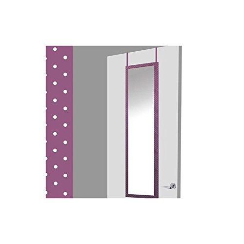 Espejo-para-puerta-lila-con-lunares-sin-agujeros-37x2x128