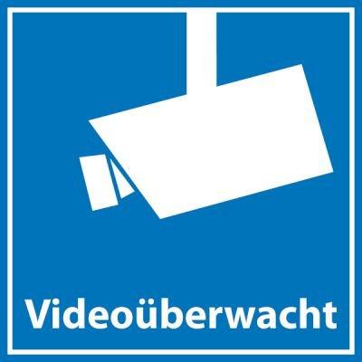 Aufkleber Videoüberwachung 5 x 5cm • Quadratisch • Dezent aber wirkungsvoll •...