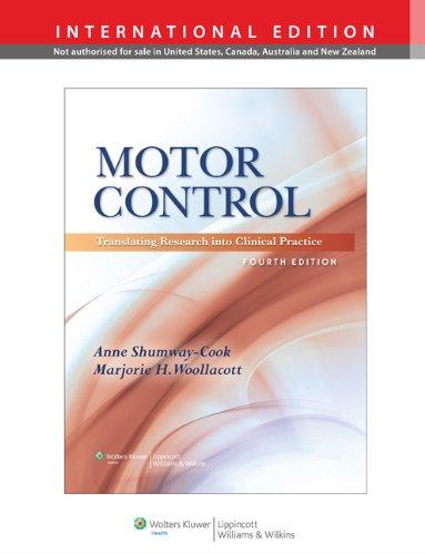 Descargar Libro Motor Control. Translating Research Into Clinical Practice de Anne Shumway-Cook