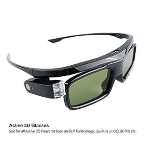 XGIMI G102L DLP Lunettes 3D DLP-Link Liquid Crystal Obturateur Rechargeables Lunettes 3D pour Z4 Aurora, Z4X et autres projecteurs DLP 3D TV